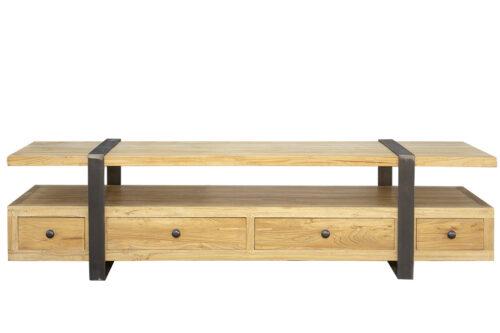 מזנון טלוויזיה מעץ וברזל