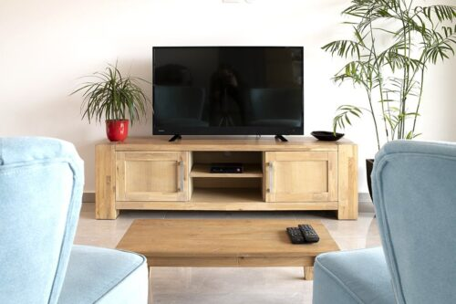 שידת טלוויזיה אלון מעץ מלא