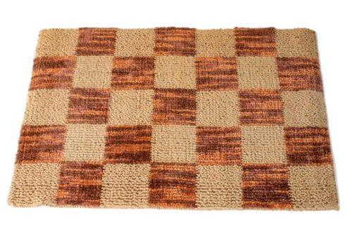 שטיח חבל טבעי משובץ