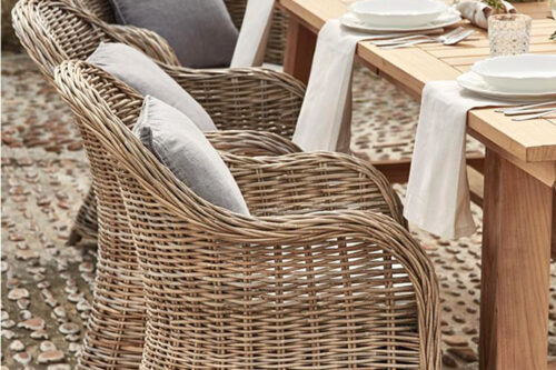 כורסא מעוצבת ראטן