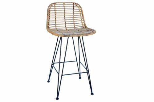 כסא בר מעוצב ראטן