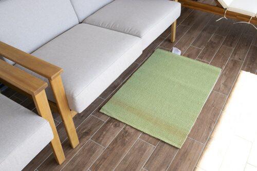 שטיח חבלים בצבע ירוק
