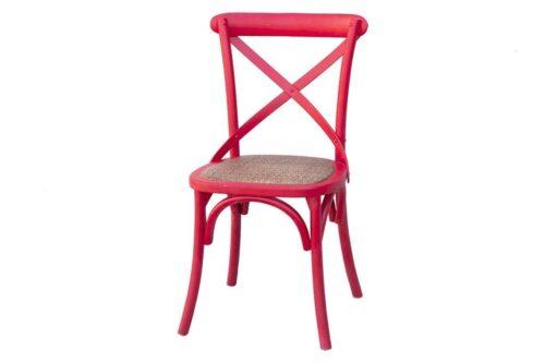 כסא אוכל אדום