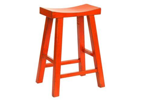 כסא בר כתום מעץ מלא