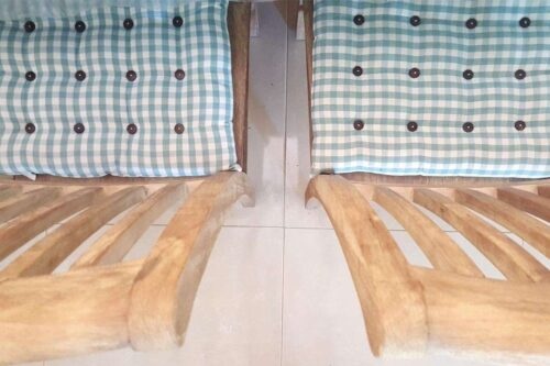 כריות מושב מעוצבות מבד
