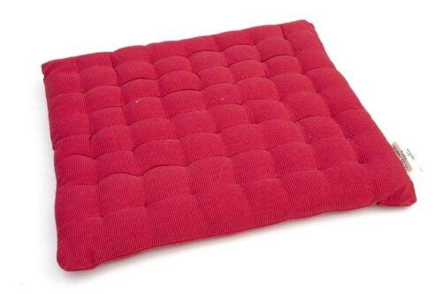 כרית מושב אדומה מבד