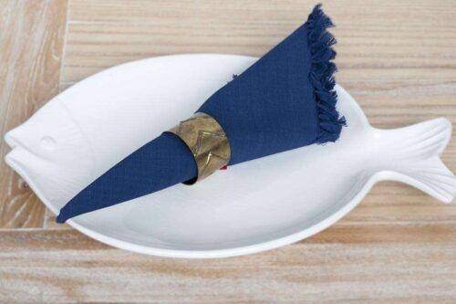 מפיות שולחן כחולות מבד