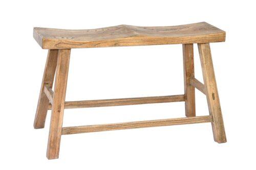 ספסל עץ טבעי לבית