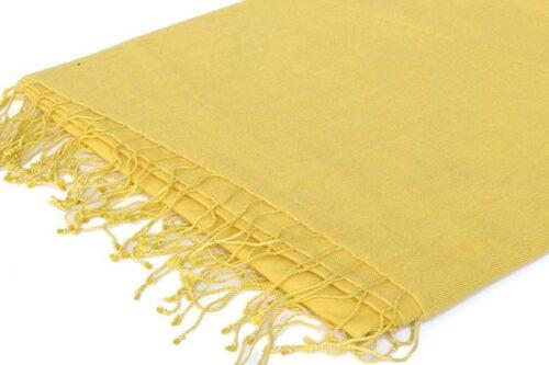צעיף פשמינה צהוב גדול