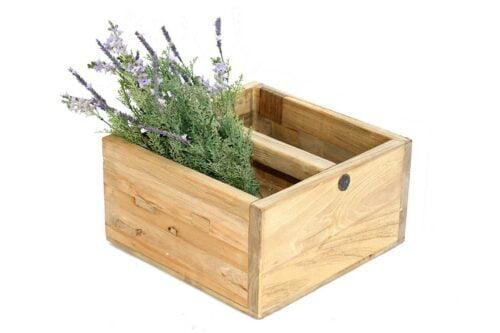 קופסה מעץ טבעי מלא