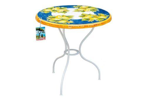שולחן גינה עגול מצויר