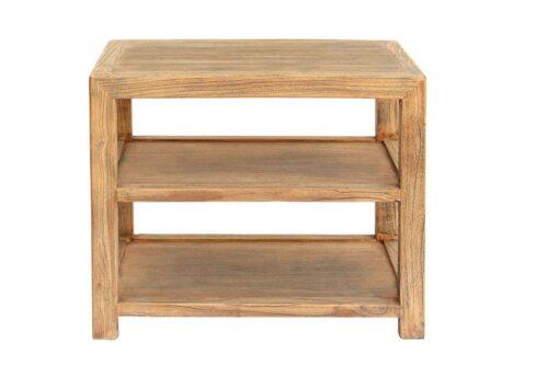 שולחן צד טבעי מעץ