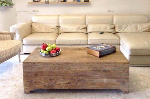שולחן תיבה מעץ מלא