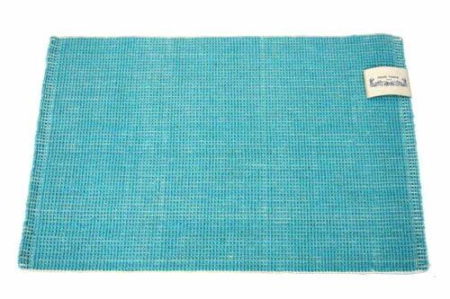 שטיח בצבע טורקיז חבלים