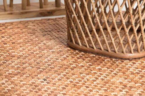 שטיח עץ אגוז לסלון