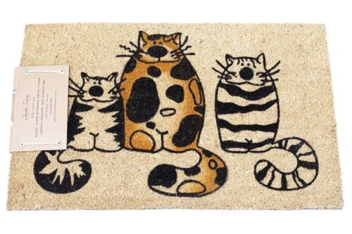 שטיח כניסה חתולים קומיקס