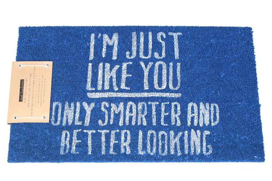 שטיח כניסה כחול לבית