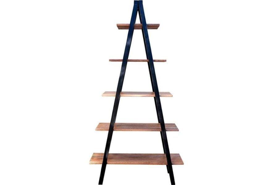 כוננית סולם מעץ וברזל