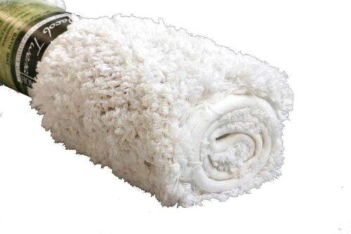שטיח אמבט שאגי לבן צח