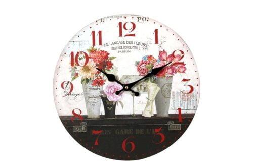 שעון פרחוני מעוצב