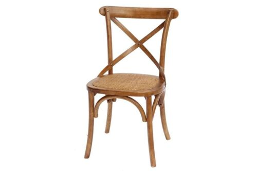כסא אוכל אגוז מעץ מלא