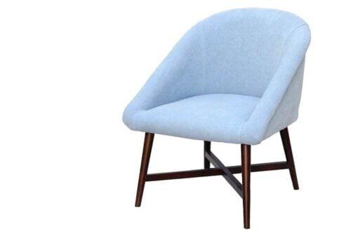 כורסא רטרו תכלת מבד פשתן