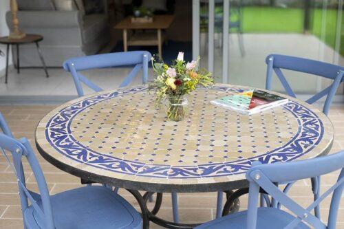 שולחן גינה פסיפס מרוקאי
