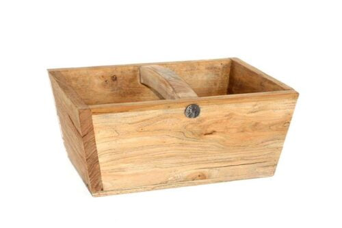 קופסה גדולה מעץ מלא