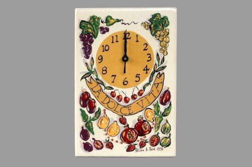 שעון מטבח ירקות לתלייה