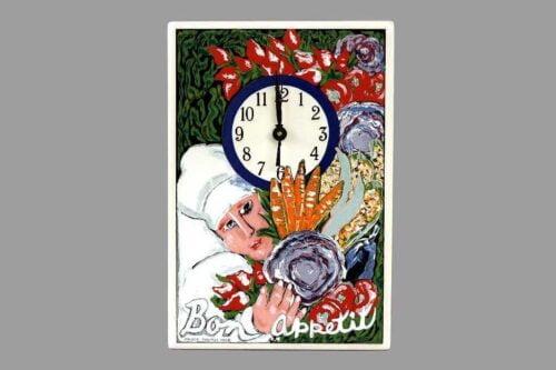 שעון מטבח טבח וירקות מיוחד