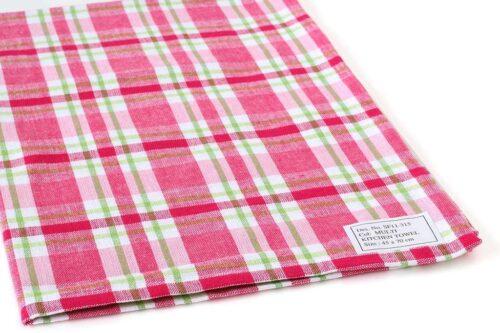מגבת פסים ורודים למטבח