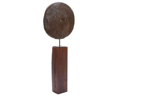 גלגל דקורטיבי גדול מעץ