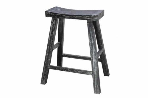 כסא בר שחור מעץ