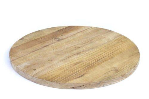 משטח עץ עגול להגשה