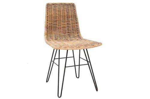 כסא ראטן מעוצב