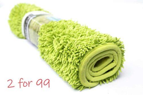 שטיח אמבט שאגי ירוק