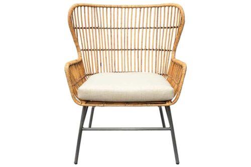 כורסא ראטן עם כרית