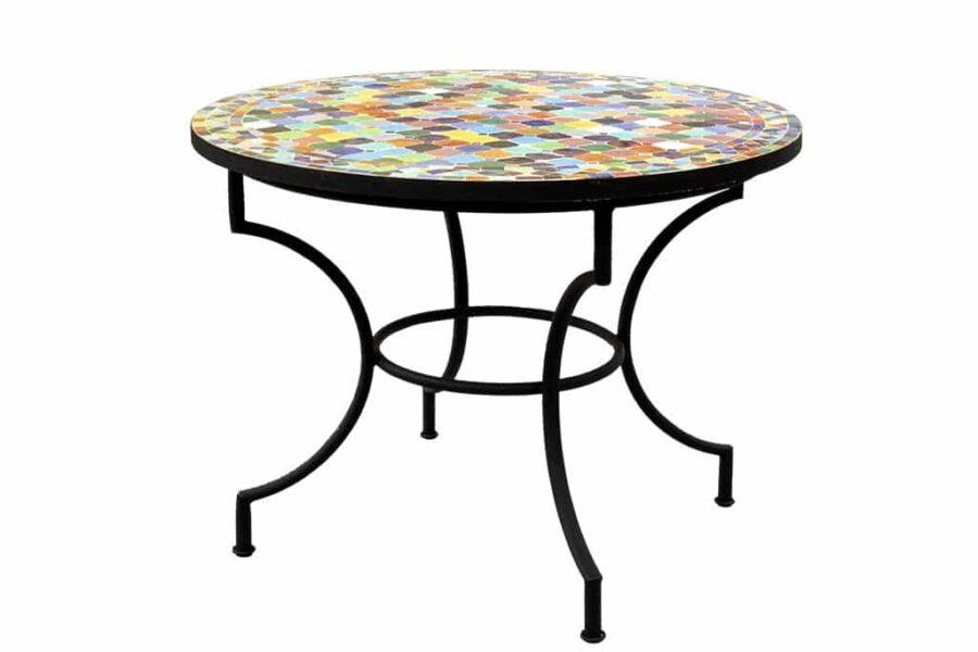 שולחן פסיפס עגול