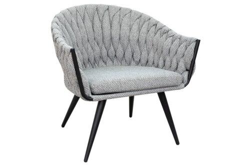 כורסא בעיצוב מודרני אפורה