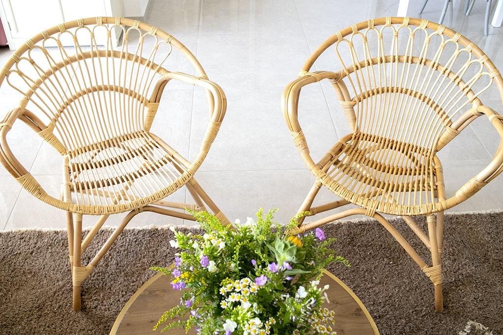 כורסא טבעית מעוצבת מבמבוק