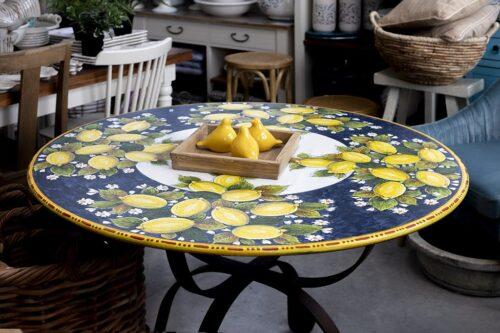 שולחן קרמיקה עגול