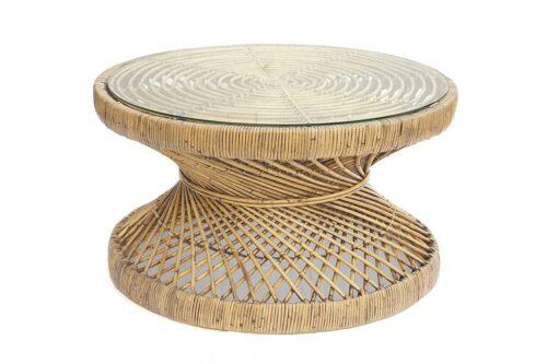 שולחן טבעי עגול