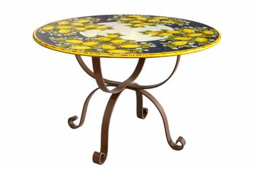 שולחן גינה עגול מקרמיקה