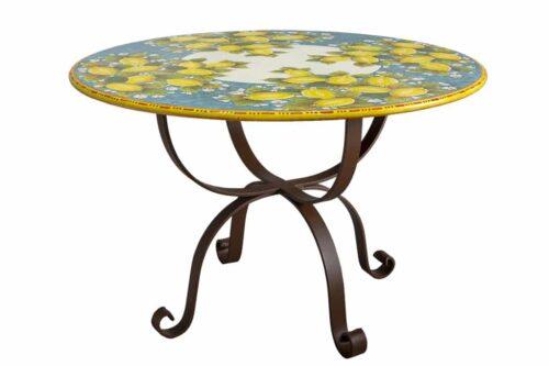 שולחן גינה מצוייר מקרמיקה