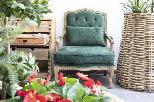 כורסא מלכותית ירוקה