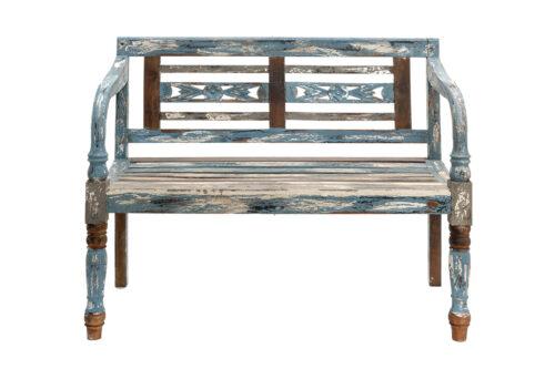 ספסל משענת זוגי מעץ