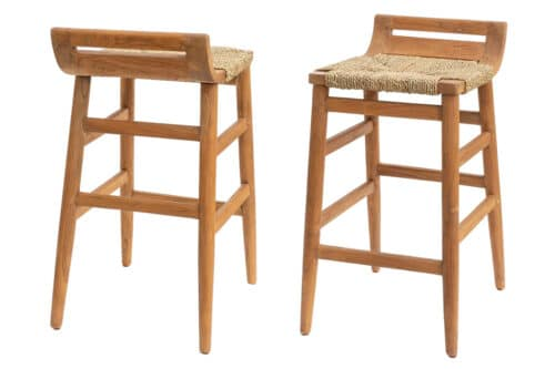 כסא בר טבעי מעץ