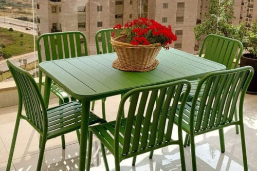 שולחן מלבני לגינה