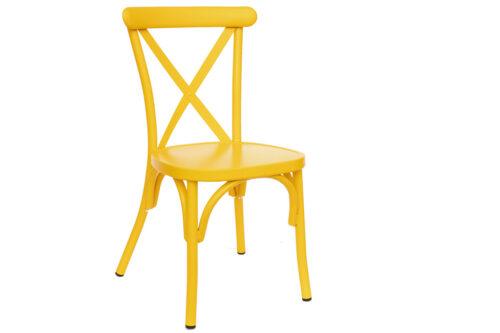 כסא קרוס צהוב לגינה