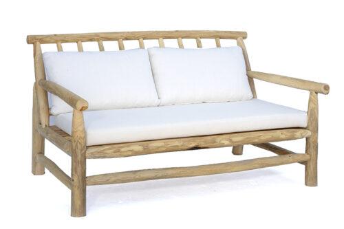 ספה מעץ לגינה